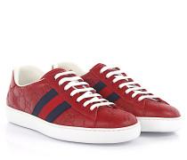 Sneakers Ace Leder -Details blau prägung