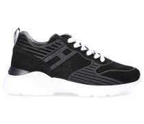 Sneaker low ACTIVE ONE Veloursleder Logo Lochmuster