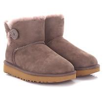 Stiefeletten Boots Mini Bailey Button Veloursleder flieder Lammfell