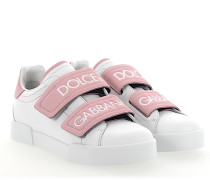Sneaker PORTOFINO LIGHT Nappaleder weiss rosa