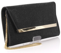Clutch Margot Leder Lame Glitzergewebe