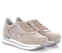 Sneaker H222 Plateau Veloursleder Mesh gold