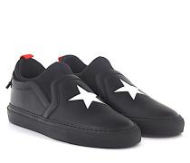 Sneakers Street Skate Sock Leder Stern