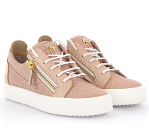 Sneaker Nicki May London Golia printed prägung rosa