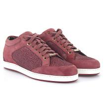 Sneaker Miami Veloursleder Stoff Glitzer Vintage Rosé