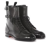 Stiefeletten Boots 55982 Leder Krokodilprägung