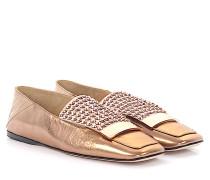 Loafer A77990 Glattleder bronze Kristallverzierung