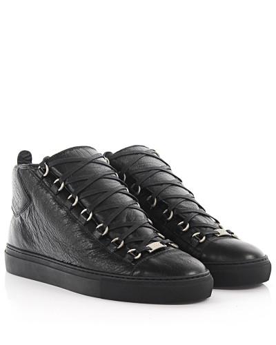 balenciaga herren balenciaga sneakers leder schwarz. Black Bedroom Furniture Sets. Home Design Ideas