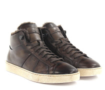 Sneaker High 14465 Leder finished Lammfell