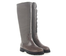 AGL Stiefel Boots D717526 Leder Lammfell