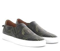 Sneaker Slip On Street Skate 3 Leder grün Dollar print
