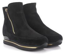 Ankle Boots Wedge Veloursleder Fell