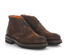 Stiefeletten Boots 12528 Veloursleder braun finished