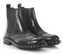 Chelsea Boots Leder Budapester Lochmuster
