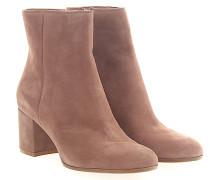 Stiefeletten Boots Margaux Mid Bootie Veloursleder beige rosa