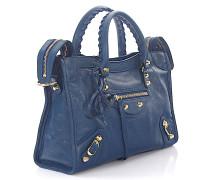 Handtasche Schultertasche Classic City S Leder crinkled Nieten gold