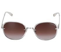 Sonnenbrille Round 072257 Metall baun