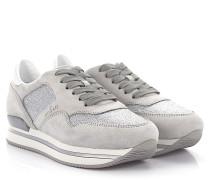 Sneaker H222 Plateau Veloursleder Glitzer