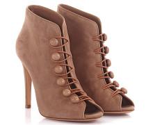 Stiefeletten Boots Imperia Peeptoe Velourslede