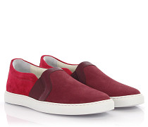 Slip-on Sneaker Leder Veloursleder