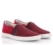 Slip-on Sneaker Leder Veloursleder