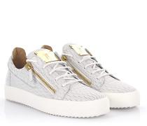 Sneaker Frankie Low Top Leder Krokodilprägung