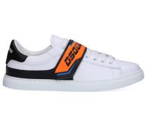 Sneaker low NEW TENNIS Kalbsleder Logo