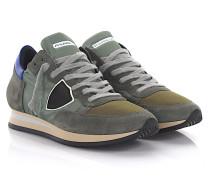 Sneaker Tropez L U World Veloursleder grau grün