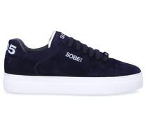 Sneaker low MIAMI Kalbsvelours Logo dunkel