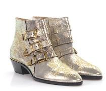 Stiefeletten Boots Susanna Ziegenleder silber finished Nieten gold Floral