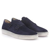 Sneaker Doppel-Monk 20428 Veloursleder