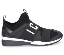 Sneaker low RUNNER Neopren Nubukleder Logo Patch weiß