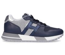 Sneaker low H383 Kalbsleder Textil Logo -kombi