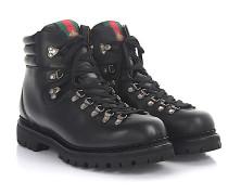 Stiefeletten Boots D6010 Nappaleder Webdetail Biene