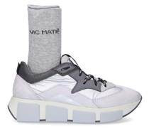 Sneaker low JUMP Kalbsleder Veloursleder Logo grau