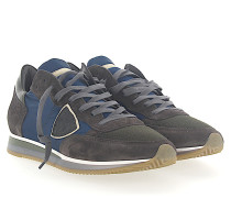 Sneaker TROPEZ Veloursleder Mesh Nylon blau Leder khaki