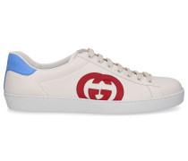 Sneaker low ACE Kalbsleder Logo weiß