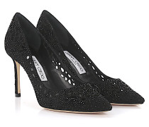 Pumps Romy 85 Veloursleder design-perforiert Strass