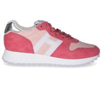 Sneaker low H29 Veloursleder weiß beige rosa