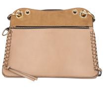 Handtasche TILDA Rindsleder Veloursleder Logo