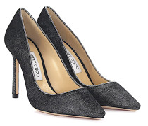 Pumps ROMY 100 Samt silber anthrazit
