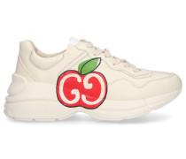 Sneaker low RHYTON Kalbsleder Logo beige
