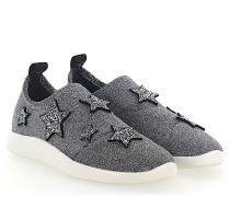 Sneaker Slip-On NATALIE Stoff glitzer Sternen-Patch