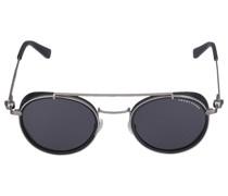 Sonnenbrille Round 085115 Metall Acetat schwarz