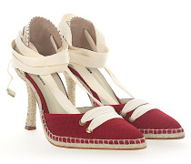 Pumps Espadrilles MANOLO HIGH Stoff rot
