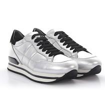 Sneaker H222 Plateau Leder silber