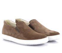 Slip-on Sneaker Leder beige