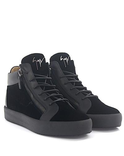 Sneaker MAY Mid Top Leder Samt Prägung