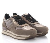 Sneaker H222 Nuovo Sportivo Veloursleder beige gold
