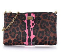 Handtasche Micro Bag Cross Body Textil-MIx Krepp Leo Print